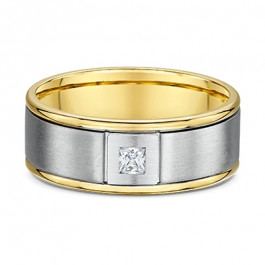 Mens Dora square Diamond European Mens Wedding ring-A13953