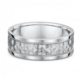Dora 18ct Mens European patterned Wedding ring-A12239