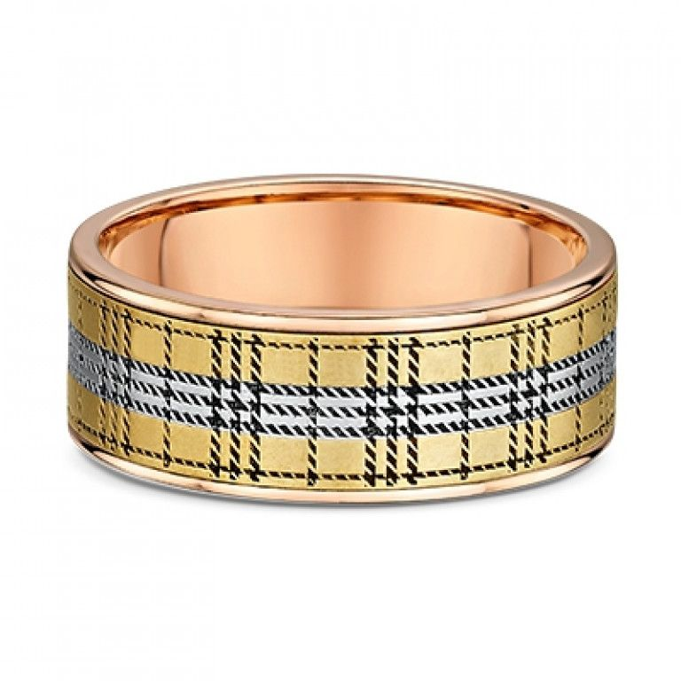Dora Men's Tartan Patterned Ring - Dora 5927000