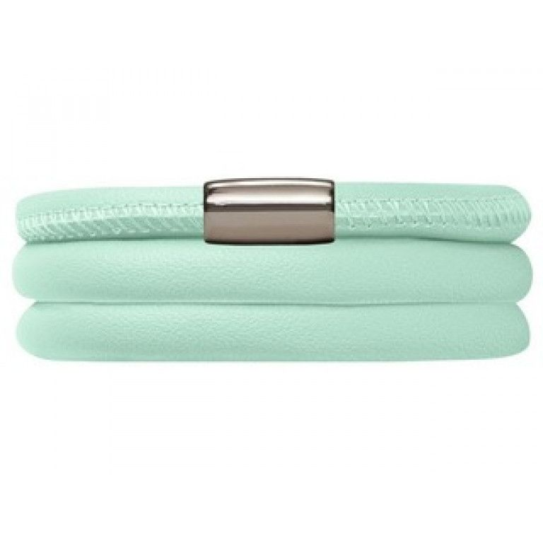 Endless Triple Mint Leather Bracelet