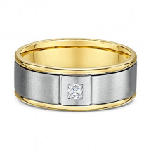 Dora Square Diamond European Men's Wedding Ring - Dora 2375000